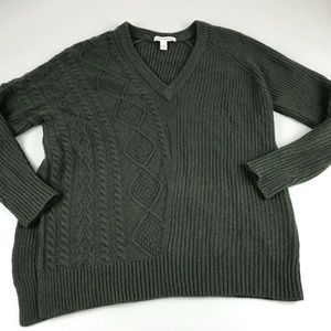 Autumn Cashmere Green Knit Sweater XS Wool blend